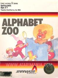 Box cover for Alphabet Zoo on the Atari 8-bit.