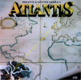 Box cover for Atlantis on the Atari 8-bit.