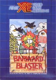 Box cover for Barnyard Blaster on the Atari 8-bit.