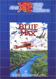 Box cover for Blue Max on the Atari 8-bit.