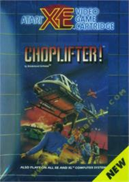 Box cover for Choplifter on the Atari 8-bit.