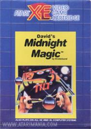 Box cover for David's Midnight Magic on the Atari 8-bit.