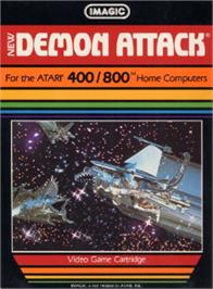 Box cover for Demon Attack on the Atari 8-bit.