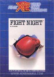 Box cover for Fight Night on the Atari 8-bit.