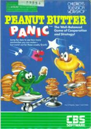 Box cover for Peanut Butter Panic on the Atari 8-bit.
