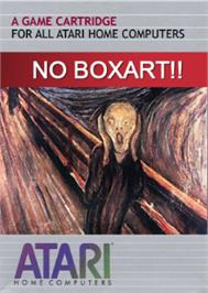 Box cover for Qix on the Atari 8-bit.