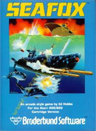 Box cover for Seafox on the Atari 8-bit.