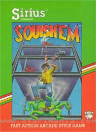 Box cover for Squish 'em on the Atari 8-bit.