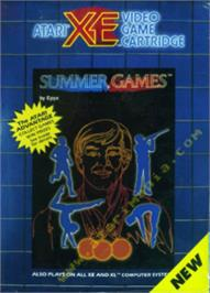 Box cover for Summer Games on the Atari 8-bit.