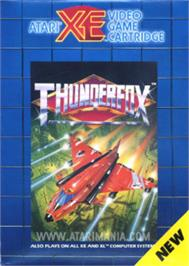 Box cover for Thunder Fox on the Atari 8-bit.
