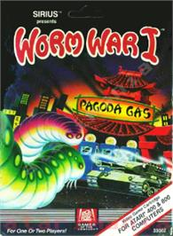 Box cover for Worm War I on the Atari 8-bit.
