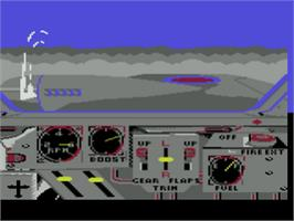 In game image of Ace of Aces on the Atari 8-bit.