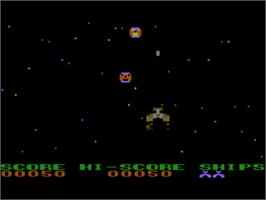 In game image of Alien Ambush on the Atari 8-bit.