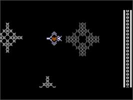 In game image of Alien Garden on the Atari 8-bit.