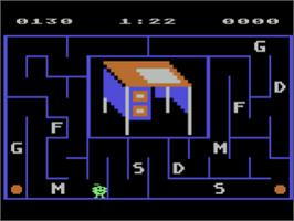 In game image of Alphabet Zoo on the Atari 8-bit.