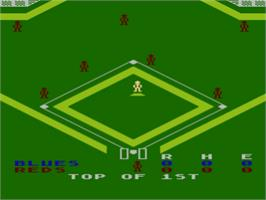 In game image of Basketball on the Atari 8-bit.
