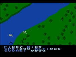 In game image of Blue Max on the Atari 8-bit.