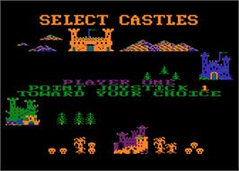 In game image of Dallas Quest on the Atari 8-bit.