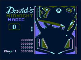 In game image of David's Midnight Magic on the Atari 8-bit.
