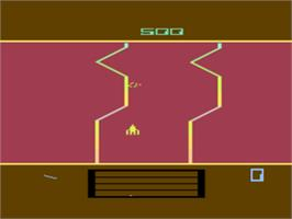 In game image of Fantastic Voyage on the Atari 8-bit.