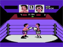 In game image of Fight Night on the Atari 8-bit.