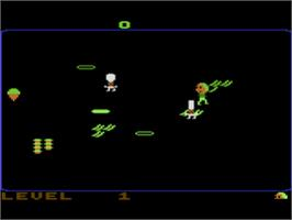 In game image of Food Fight on the Atari 8-bit.