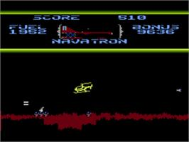 In game image of Fort Apocalypse on the Atari 8-bit.