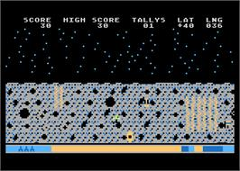 In game image of Moptown Parade on the Atari 8-bit.