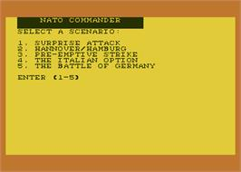 In game image of NATO Commander on the Atari 8-bit.