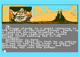 In game image of Neverending Story on the Atari 8-bit.