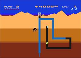 In game image of O'Riley's Mine on the Atari 8-bit.