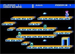 In game image of Ollie's Follies on the Atari 8-bit.