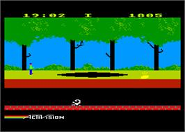 In game image of Pitfall II on the Atari 8-bit.