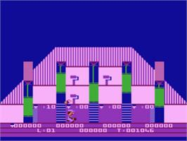 In game image of Prisoner 2 on the Atari 8-bit.