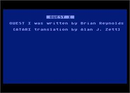 In game image of Quest on the Atari 8-bit.