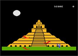 In game image of Quest for Quintana Roo on the Atari 8-bit.