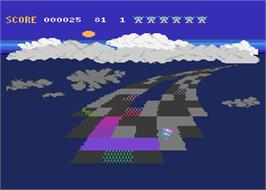In game image of Rainbow Walker on the Atari 8-bit.