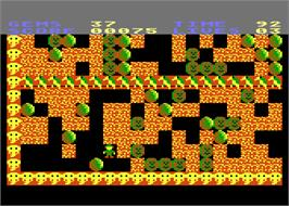 In game image of Rockford: The Arcade Game on the Atari 8-bit.
