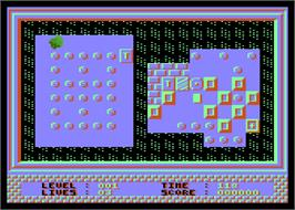 In game image of Scapeghost on the Atari 8-bit.