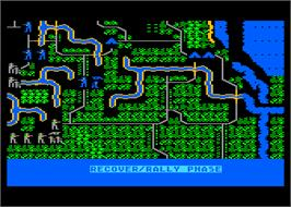 In game image of Shiloh: Grant's Trial in the West on the Atari 8-bit.