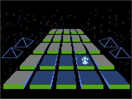 In game image of Silicon Warrior on the Atari 8-bit.