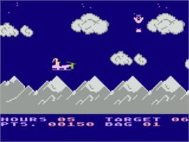 In game image of Special Delivery: Santa's Christmas Chaos on the Atari 8-bit.