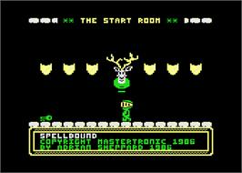 In game image of Spellbound on the Atari 8-bit.