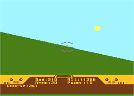In game image of Spitfire Ace on the Atari 8-bit.