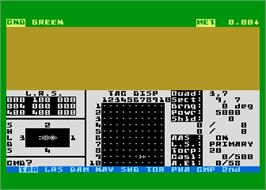 In game image of Star Fleet I: The War Begins on the Atari 8-bit.