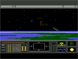 In game image of Star Raiders 2 on the Atari 8-bit.