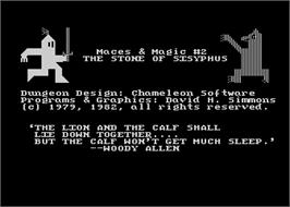 In game image of Stone of Sisyphus on the Atari 8-bit.