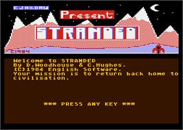 In game image of Strange Odyssey on the Atari 8-bit.