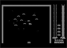 In game image of Threshold on the Atari 8-bit.