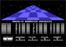 In game image of Trail Blazer on the Atari 8-bit.